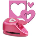 EK Success - Paper Shapers - Double Punch - Double Heart