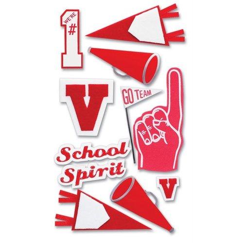 5f04e3cc EK Success-Pep Rally Dimensional Stickers - School Spirit - Red ...