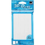 "3-D Dots Adhesive Foam Strips - White - 1/8"" Thick"