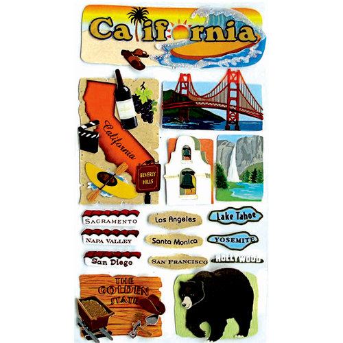 EK Success - Jolee's Boutique - 3 Dimensional Stickers - California