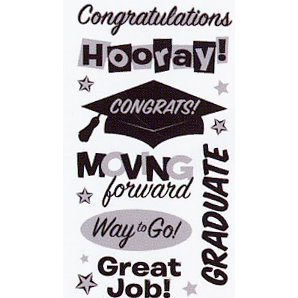 EK Success - Sticko Semi Layered Stickers - Graduation