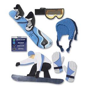 Jolee's Boutique Stickers - Snowboarding