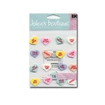 EK Success Jolee's Boutique - 3D Stickers - Conversation Hearts, CLEARANCE