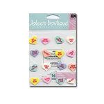 EK Success Jolee's Boutique - 3D Stickers - Conversation Hearts, CLEARANCE