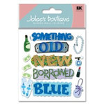 EK Success - Jolee's Boutique - Dimensional Stickers - Something Blue