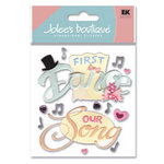 EK Success - Jolee's Boutique - Dimensional Stickers - First Dance, CLEARANCE