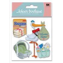 EK Success - Jolee's Boutique - Dimensional Stickers - Coming Home