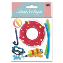 EK Success - Jolee's Boutique - Dimensional Stickers - Pool Toys