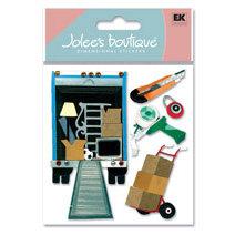 EK Success - Jolee's Boutique - Dimensional Stickers - Moving