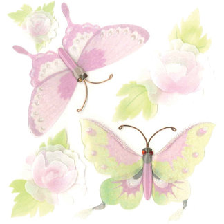 EK Success - Jolee's Boutique - 3 Dimensional Stickers - Butterflies and Flowers 2