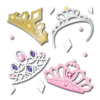 EK Success - Jolee's Boutique - 3 Dimensional Stickers - 4 Tiaras