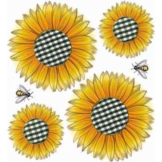 EK Success - Jolee's Boutique - 3 Dimensional Stickers - Sunflowers