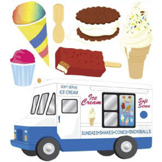 EK Success - Jolee's Boutique - 3 Dimensional Stickers - Ice Cream Man