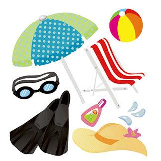 EK Success - Jolee's Boutique - 3 Dimensional Stickers - Summertime, CLEARANCE