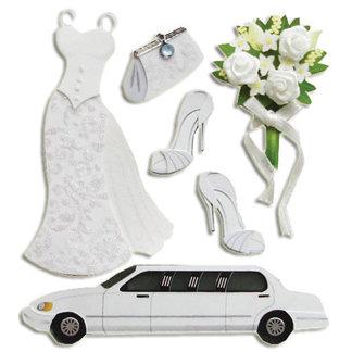 EK Success - Jolee's Boutique - 3 Dimensional Stickers - Bride, CLEARANCE