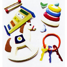 EK Success - Jolee's Boutique - Dimensional Stickers - Baby Toys