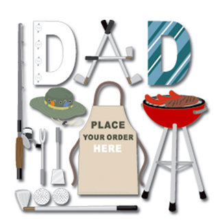 EK Success - Jolee's Boutique - 3 Dimensional Stickers - Dad With Title