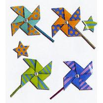 EK Success - Jolee's Boutique - Dimensional Stickers - Pinwheels, CLEARANCE
