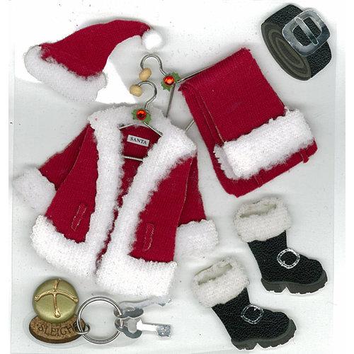 EK Success - Jolee's Boutique - Christmas - 3 Dimensional Stickers - Santas Valet