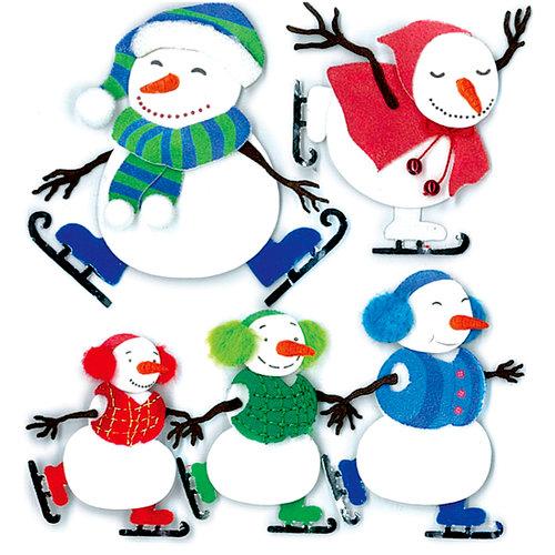 EK Success - Jolee's Boutique - 3 Dimensional Stickers - Ice Skating - Snowmen