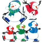 EK Success - Jolee's Boutique - 3 Dimensional Stickers - Ice Skating - Snowmen