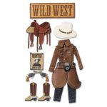 Jolee's Boutique Le Grande Stickers - Cowboy