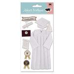 EK Success - Jolee's Boutique Le Grande  Dimensional Stickers - Graduation Collection - Cap and Gown - White