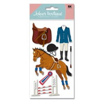 EK Success - Jolee's Boutique - Dimensional Stickers - Equestrian