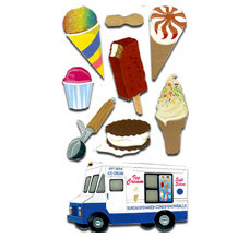 EK Success - Jolee's Boutique Le Grande Dimensional Stickers - Ice Cream