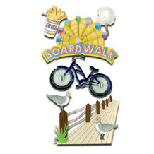 EK Success - Jolee's Boutique Le Grande Dimensional Stickers - Boardwalk
