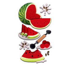 EK Success - Jolee's Boutique Le Grande Dimensional Stickers - Watermelon