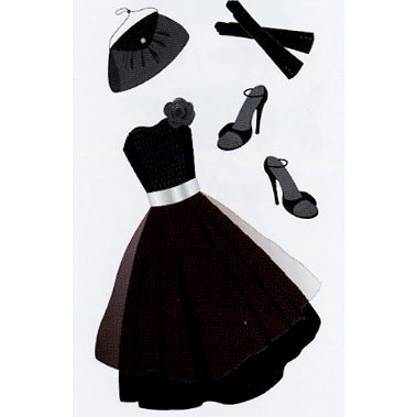 EK Success - Jolee's Le Grande - Dimensional Stickers - Little Black Dress