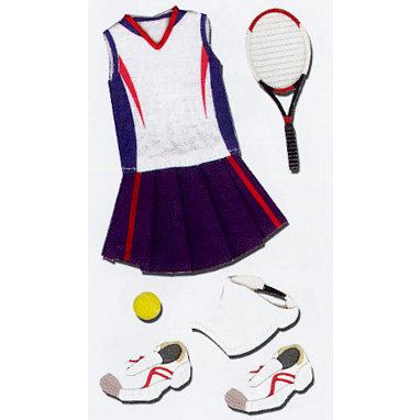 EK Success - Jolee's Le Grande - Dimensional Stickers - Tennis