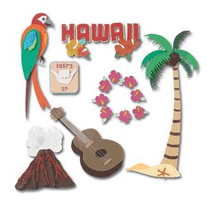 Jolee's Boutique Destination Stickers - Hawaii