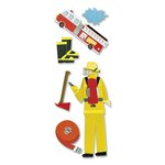 EK Success - Touch of Jolee's Dimensional Stickers  - Firefighter