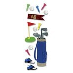EK Success - Touch of Jolee's Dimensional Stickers  - Golfing