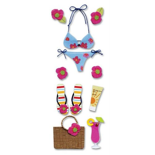 EK Success - Touch of Jolee's Dimensional Stickers  - Tropical Bikini
