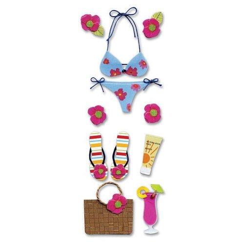 EK Success - Touch of Jolee's Dimensional Stickers  - Tropical Bikini
