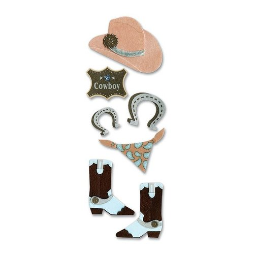 EK Success - Touch of Jolee's Dimensional Stickers  - Cowboy