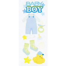 EK Success - Touch of Jolee's - Dimensional Stickers - Baby Boy