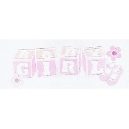 EK Success - Jolee's - Dimensional Title Stickers - Baby Girl