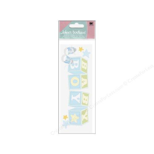 EK Success - Jolee's - Dimensional Title Stickers - Baby Boy