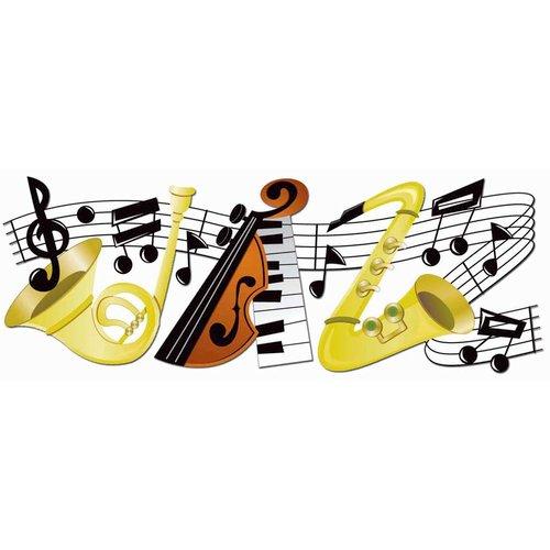 EK Success - Jolee's Boutique - Title Waves - Dimensional Stickers - Jazz Title