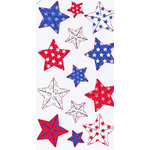 EK Success - Sticko Metallic Stickers - Facted Patriot Stars