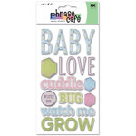 EK Success - Sticko Phrase Cafe - Epoxy Stickers - Baby, CLEARANCE