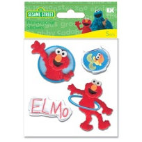 EK Success - Sesame Street - Dimensional Stickers - Elmo, CLEARANCE