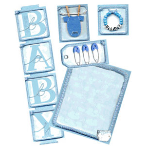 E-Kit Elements (Digital Scrapbooking) - Baby Boy 1