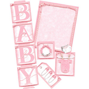 E-Kit Elements (Digital Scrapbooking) - Baby Girl 1