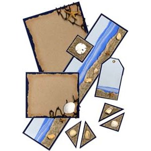 E-Kit Elements (Digital Scrapbooking) - Seashore