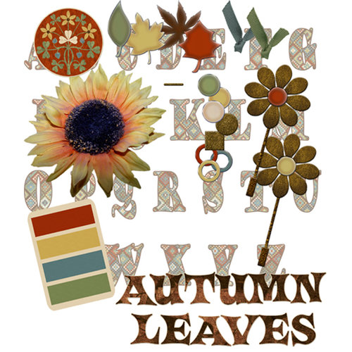 E-Kit Elements (Digital Scrapbooking) - Autumn Leaves 1